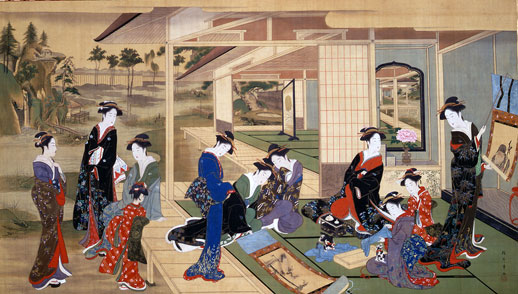 勝川春章と肉筆美人画 <みやび>の女性像 出光美術 …