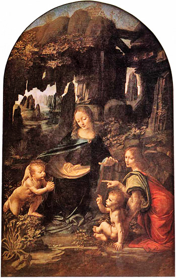 madonna of rocks. Virgin of the Rocks